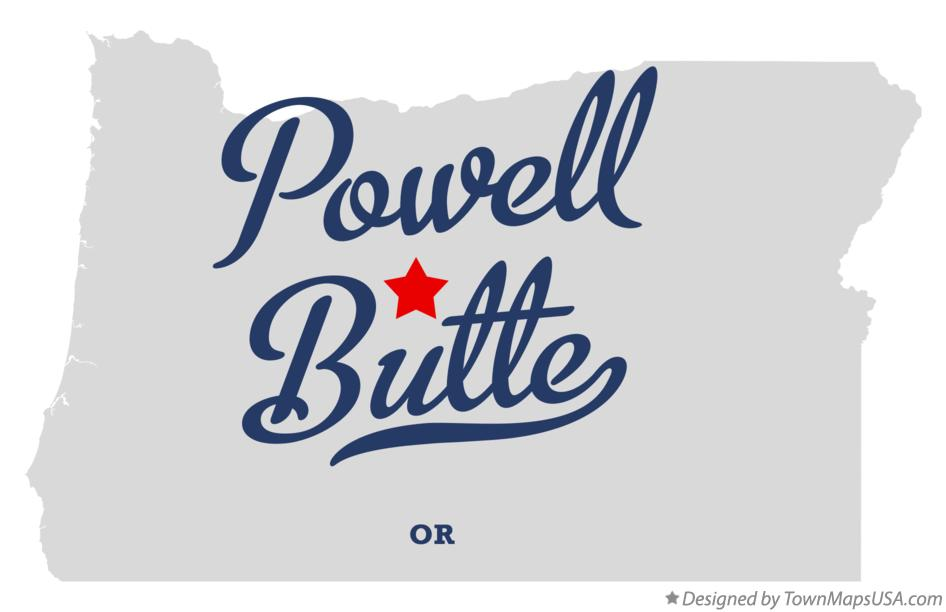Map of Powell Butte Oregon OR