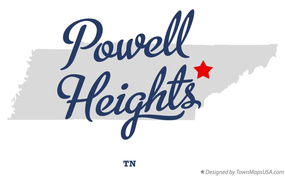 Map of Powell Heights Tennessee TN