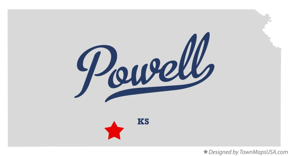Map of Powell Kansas KS