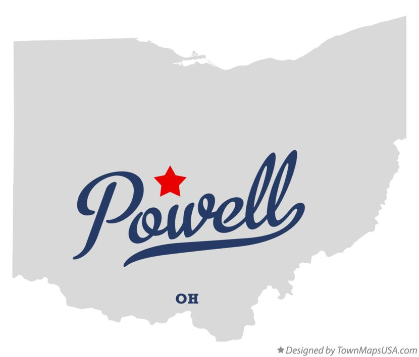 Map of Powell, Delaware County, OH, Ohio