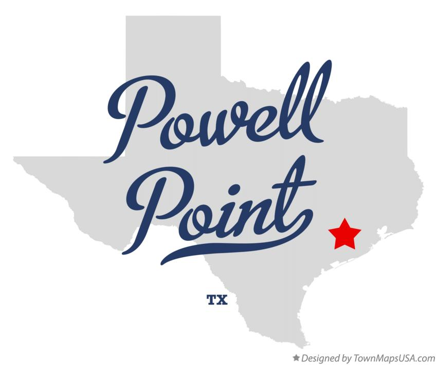 Map of Powell Point Texas TX
