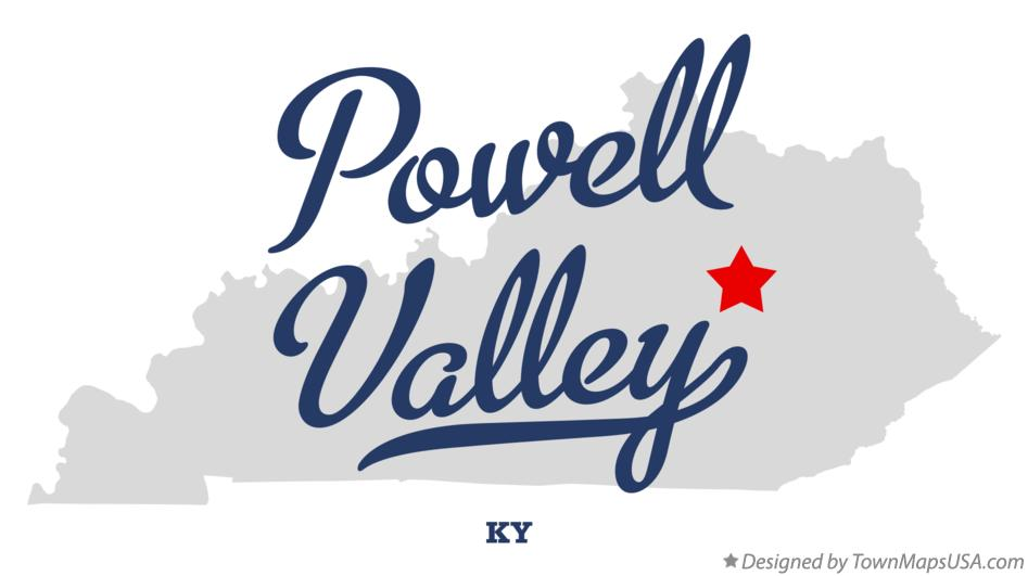 Map of Powell Valley Kentucky KY