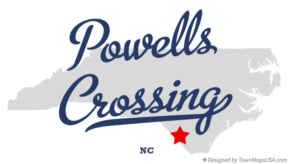 Map of Powells Crossing North Carolina NC