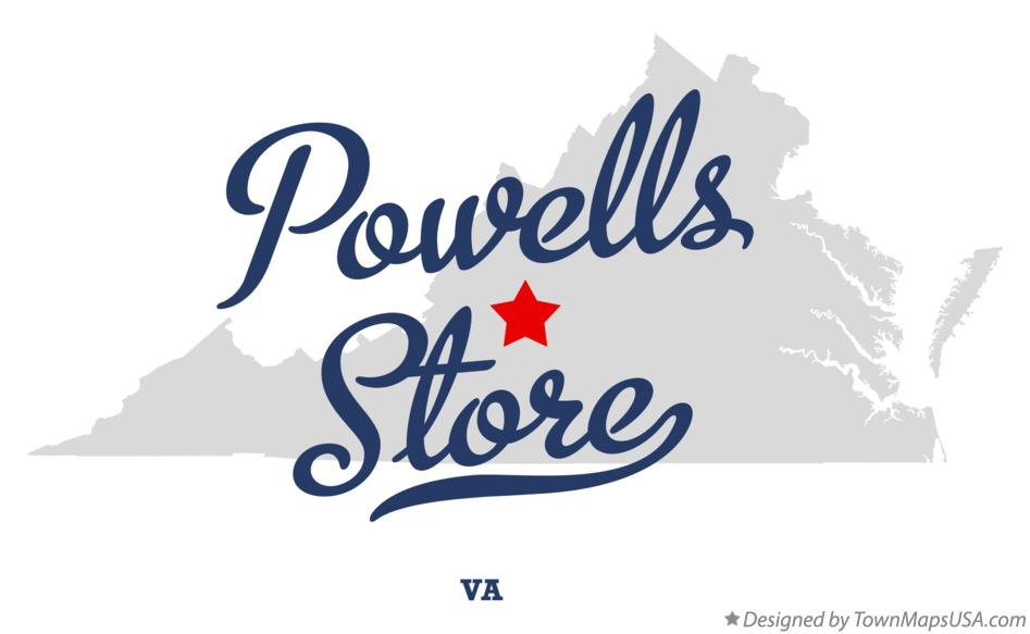 Map of Powells Store Virginia VA