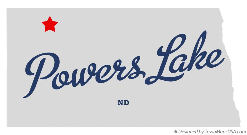 Map of Powers Lake North Dakota ND
