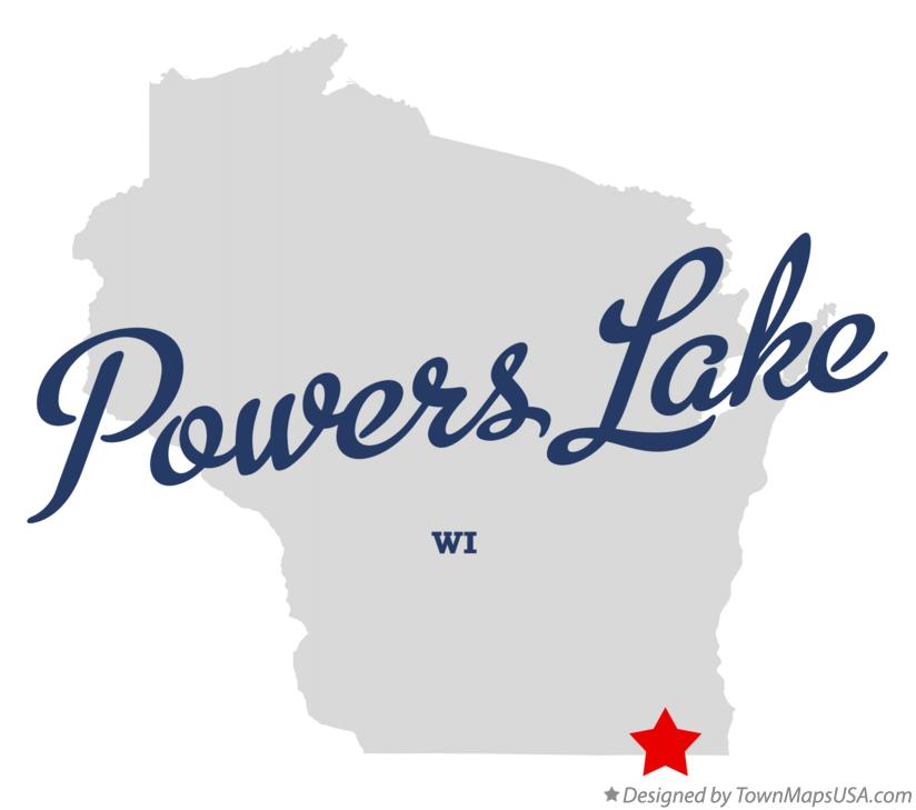 Map of Powers Lake Wisconsin WI