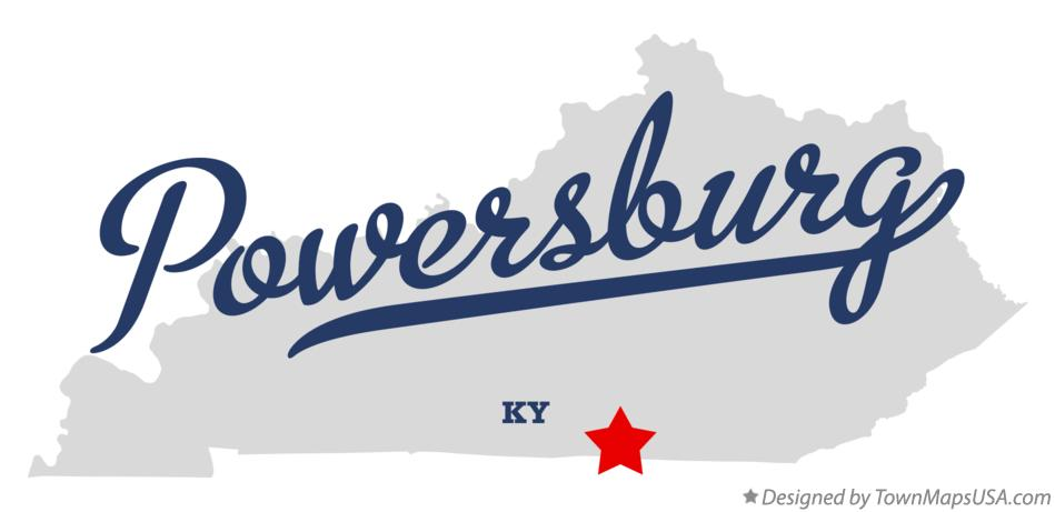 Map of Powersburg Kentucky KY
