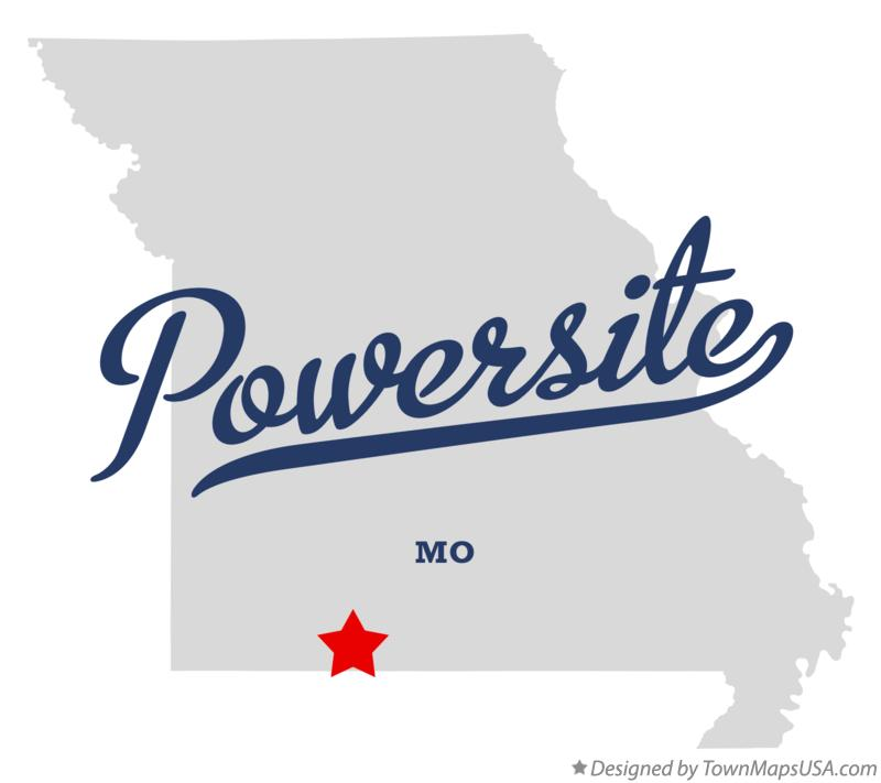 Map of Powersite Missouri MO