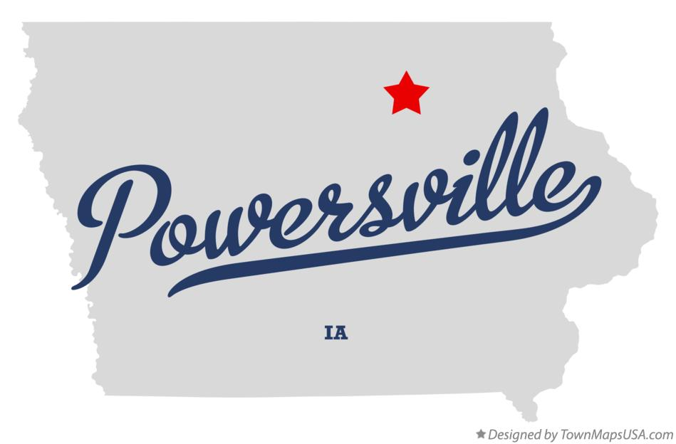 Map of Powersville Iowa IA