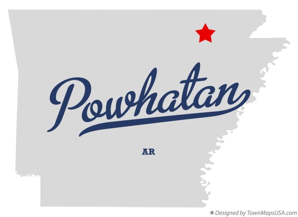 Map of Powhatan Arkansas AR
