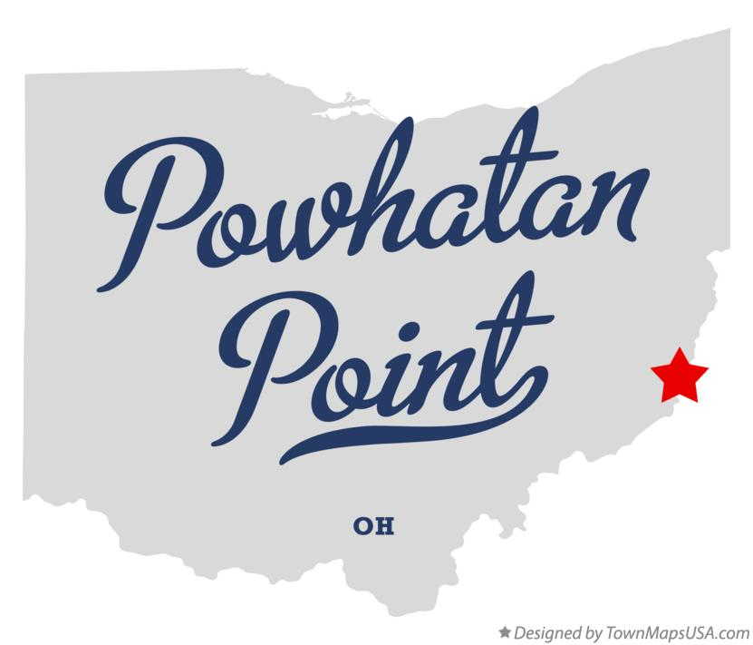Map of Powhatan Point Ohio OH