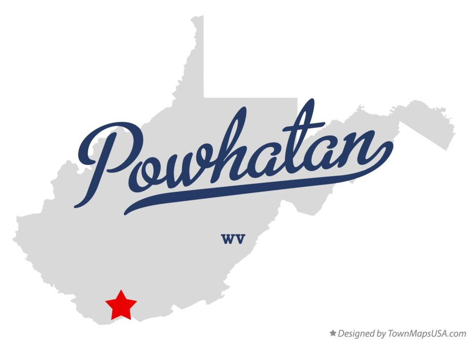Map of Powhatan West Virginia WV