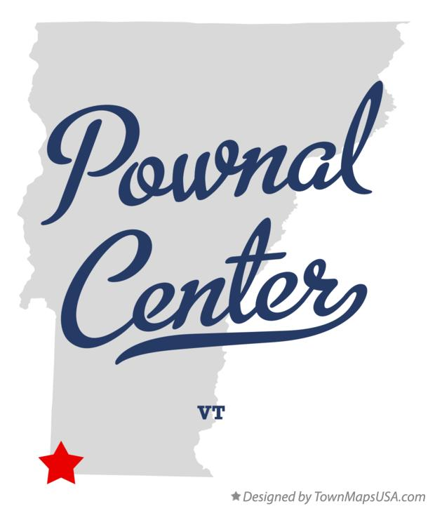 Map of Pownal Center Vermont VT