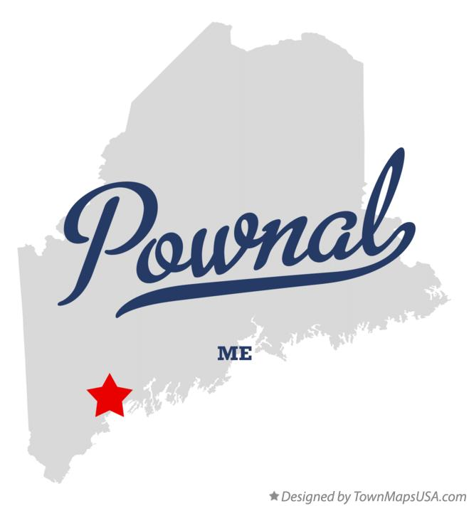 Map of Pownal Maine ME