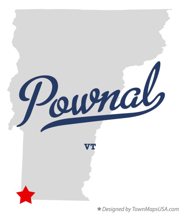Map of Pownal Vermont VT