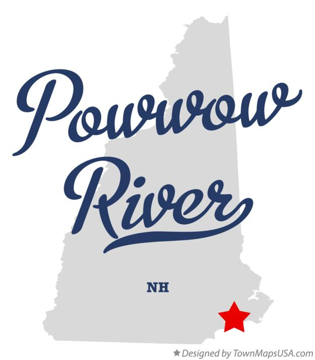 Map of Powwow River New Hampshire NH