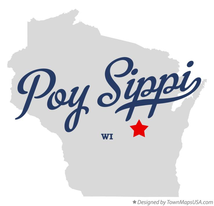 Map of Poy Sippi Wisconsin WI