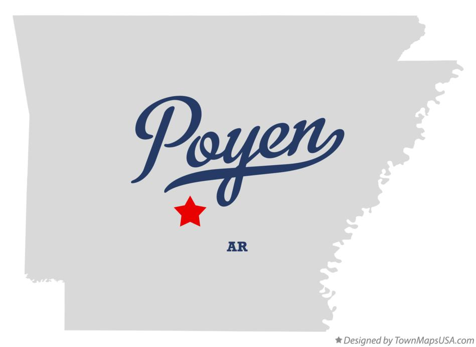 Map of Poyen Arkansas AR