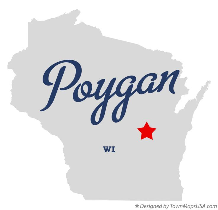 Map of Poygan Wisconsin WI