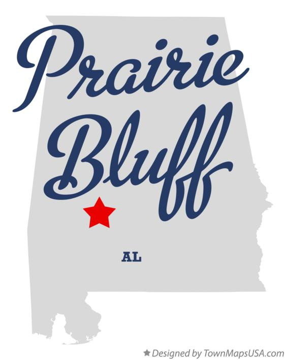 Map of Prairie Bluff Alabama AL
