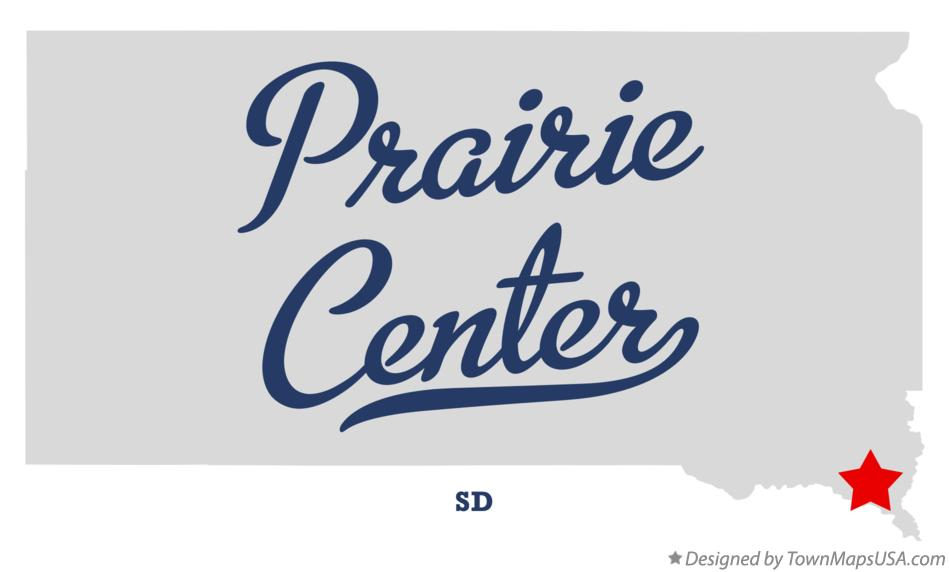 Map of Prairie Center South Dakota SD