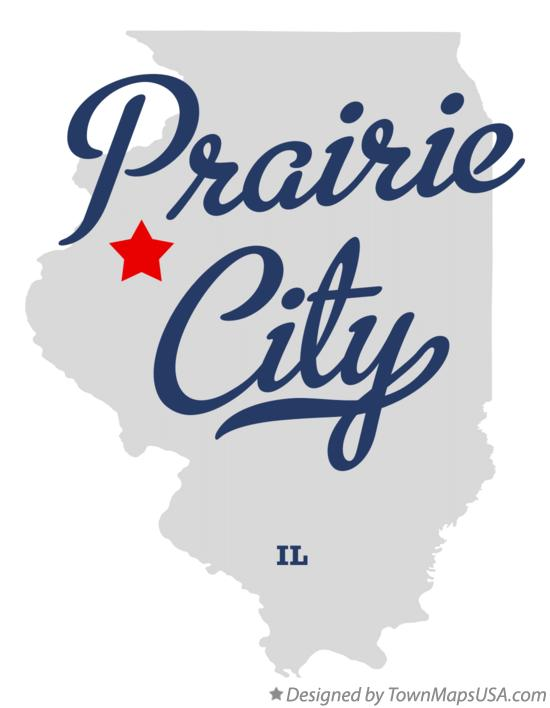 Map of Prairie City Illinois IL