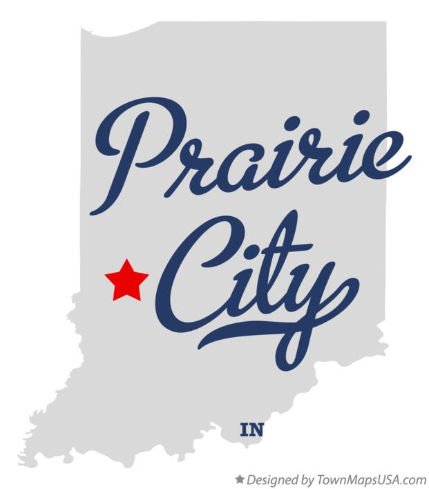 Map of Prairie City Indiana IN