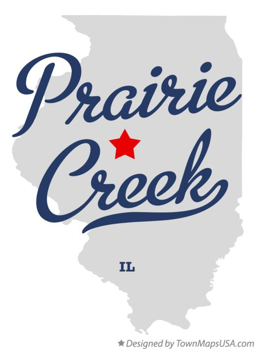 Map of Prairie Creek Illinois IL