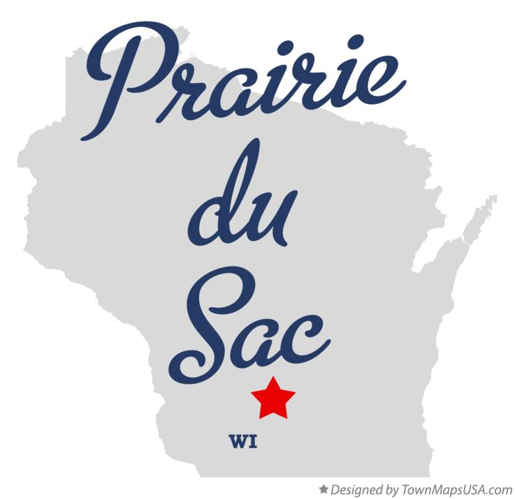 Map of Prairie du Sac Wisconsin WI