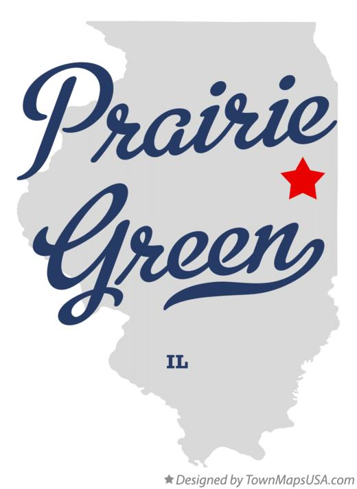 Map of Prairie Green Illinois IL