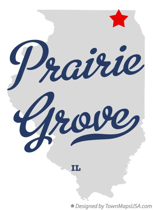 Map of Prairie Grove Illinois IL