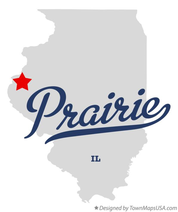 Map of Prairie Illinois IL