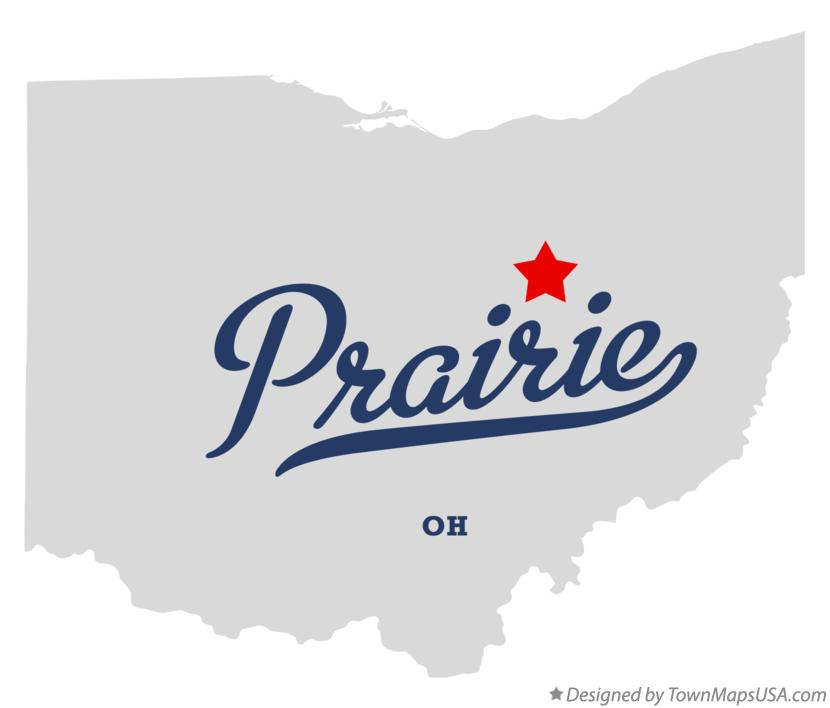 Map of Prairie Ohio OH