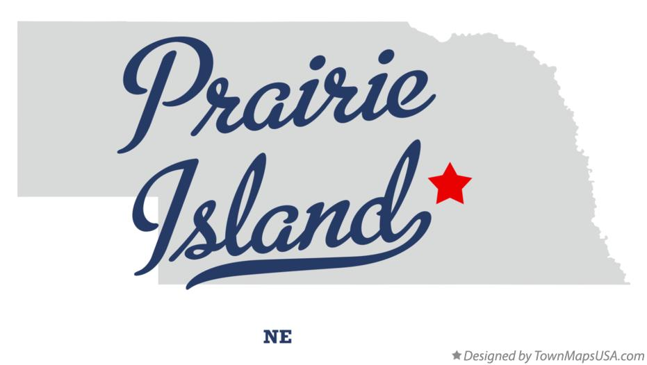 Map of Prairie Island Nebraska NE