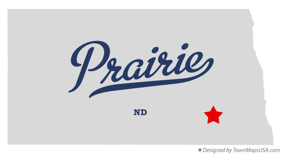 Map of Prairie North Dakota ND