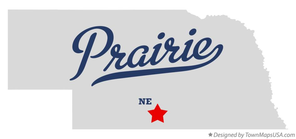 Map of Prairie Nebraska NE