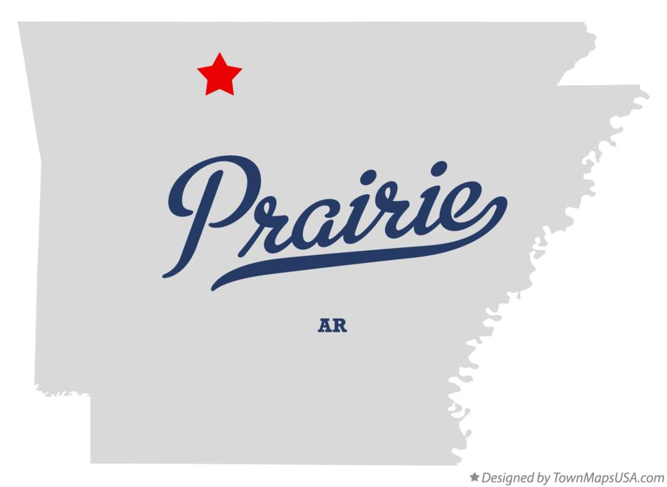 Map of Prairie Arkansas AR