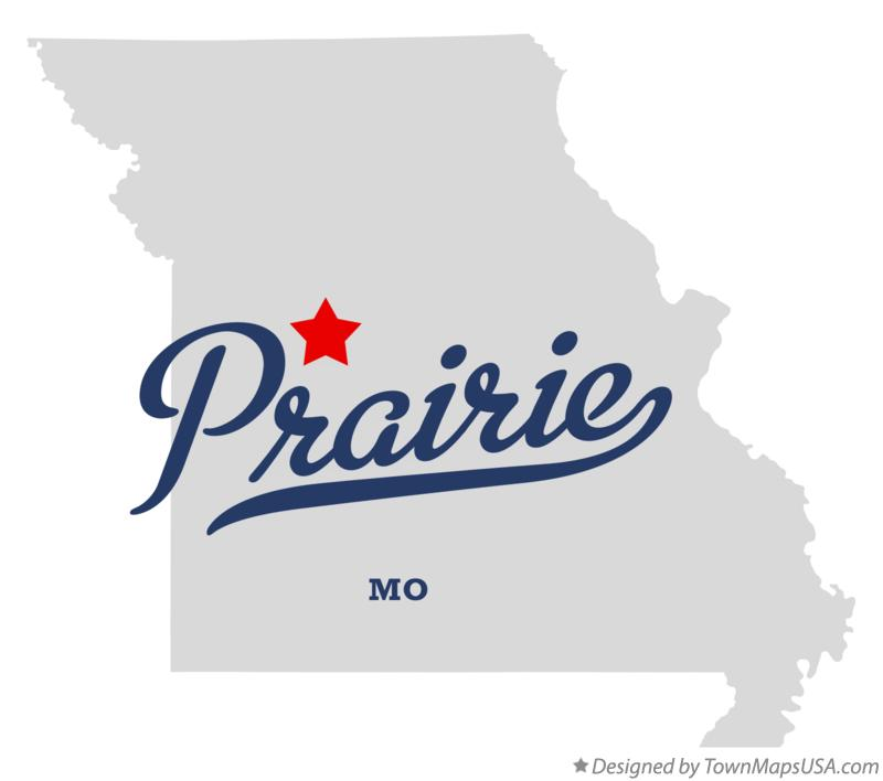 Map of Prairie Missouri MO