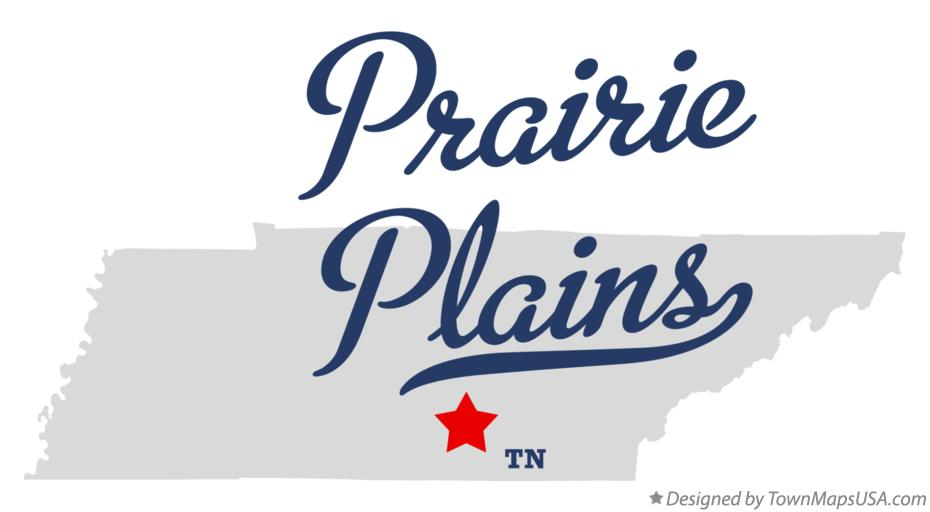 Map of Prairie Plains Tennessee TN