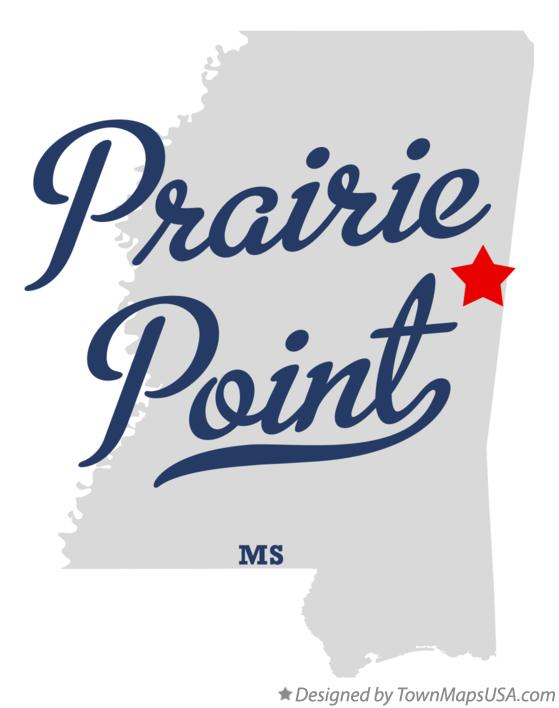 Map of Prairie Point Mississippi MS