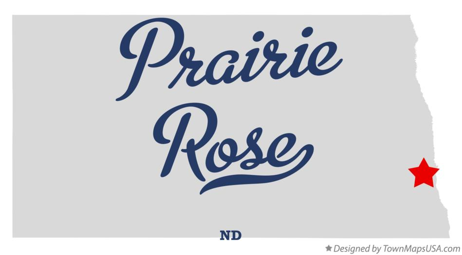Map of Prairie Rose North Dakota ND