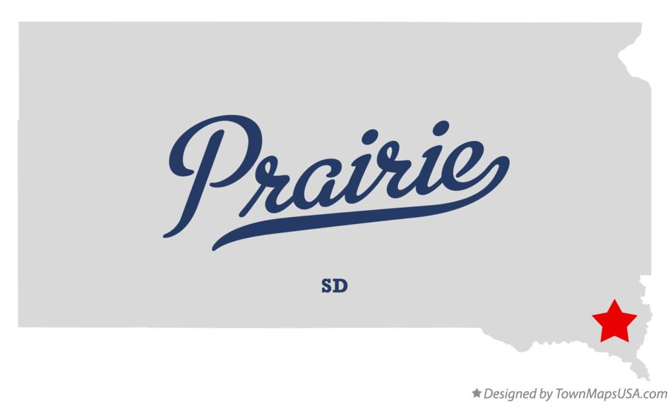 Map of Prairie South Dakota SD