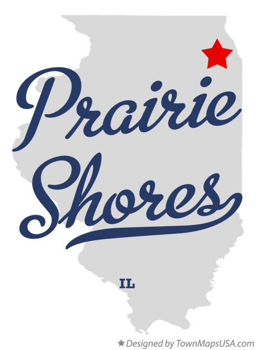 Map of Prairie Shores Illinois IL