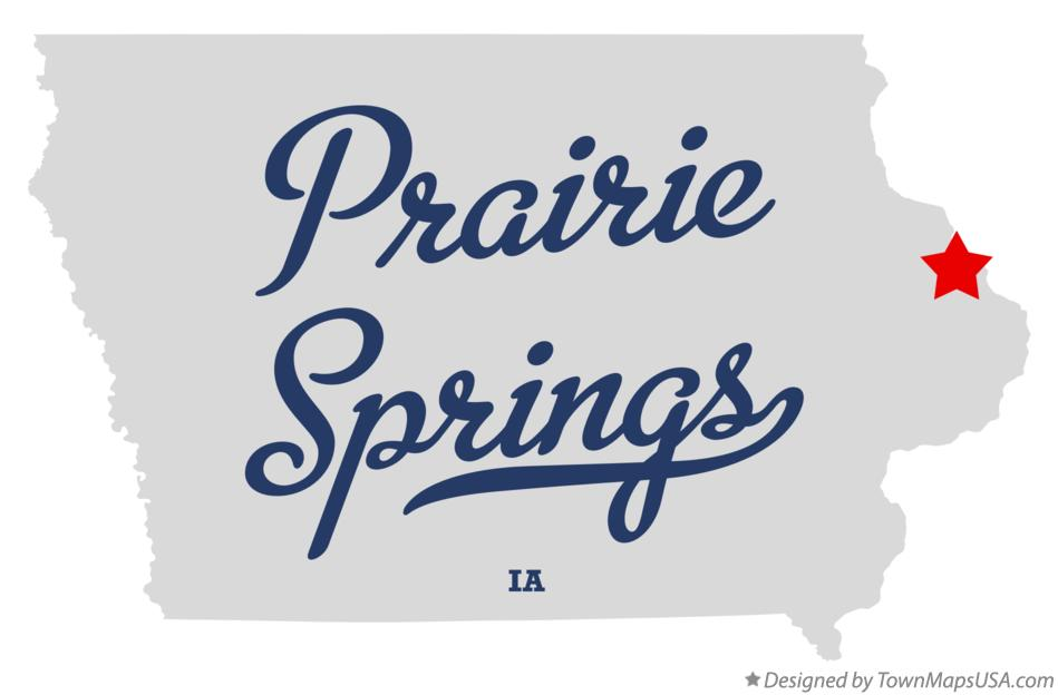 Map of Prairie Springs Iowa IA