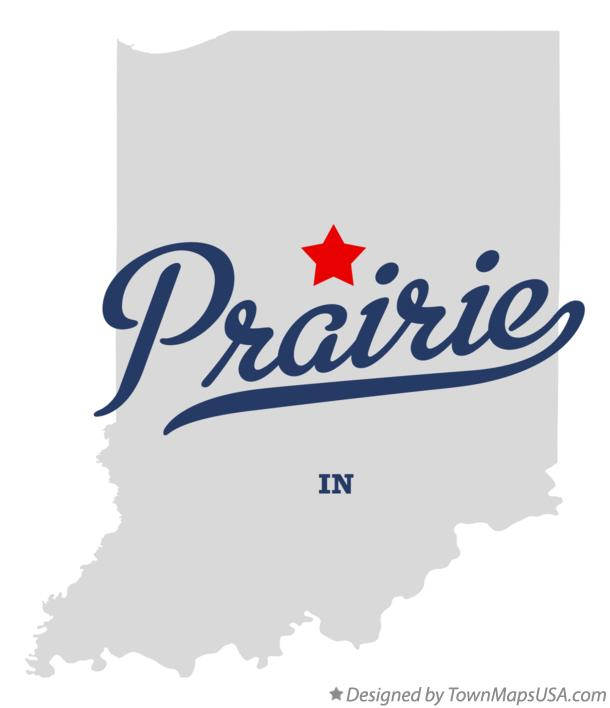 Map of Prairie Indiana IN
