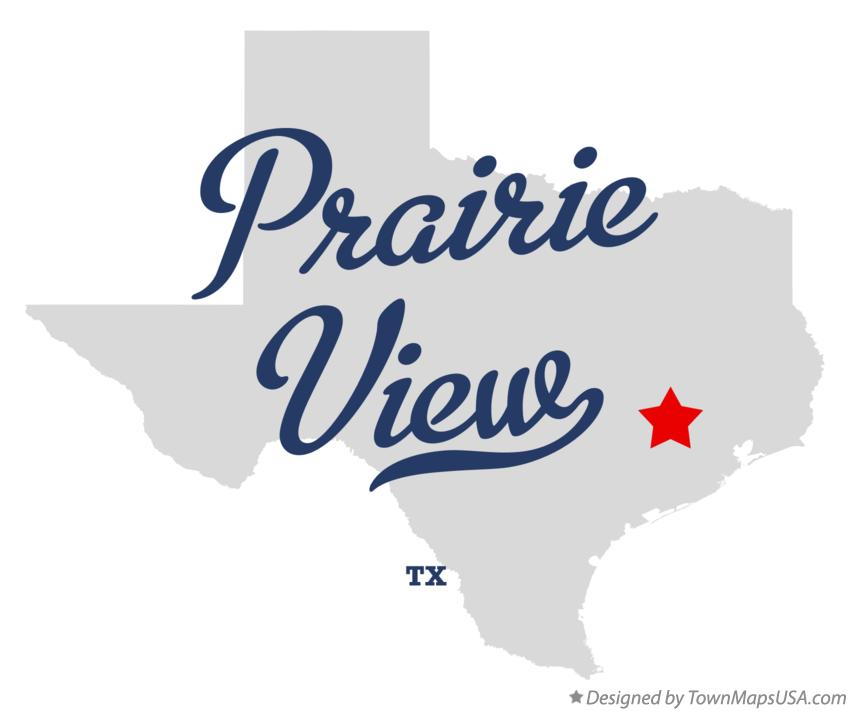 Map of Prairie View Texas TX