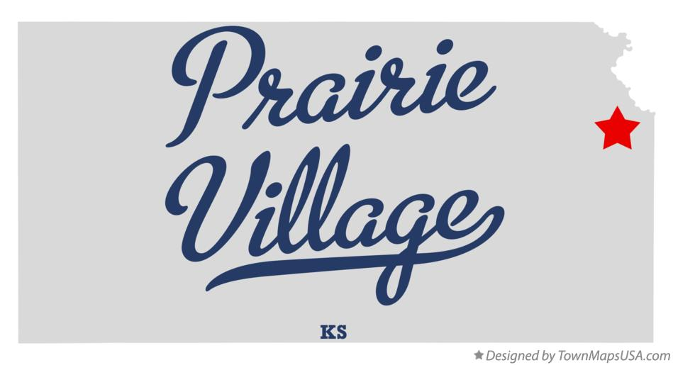 Map of Prairie Village Kansas KS