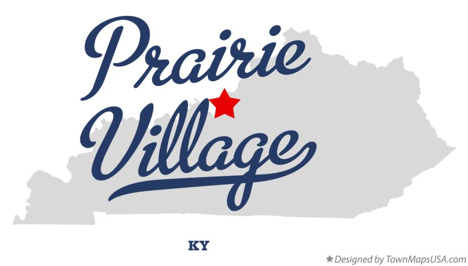 Map of Prairie Village Kentucky KY