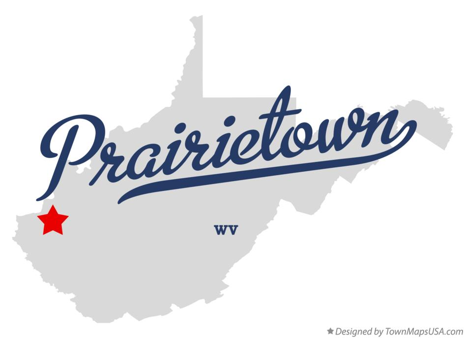 Map of Prairietown West Virginia WV