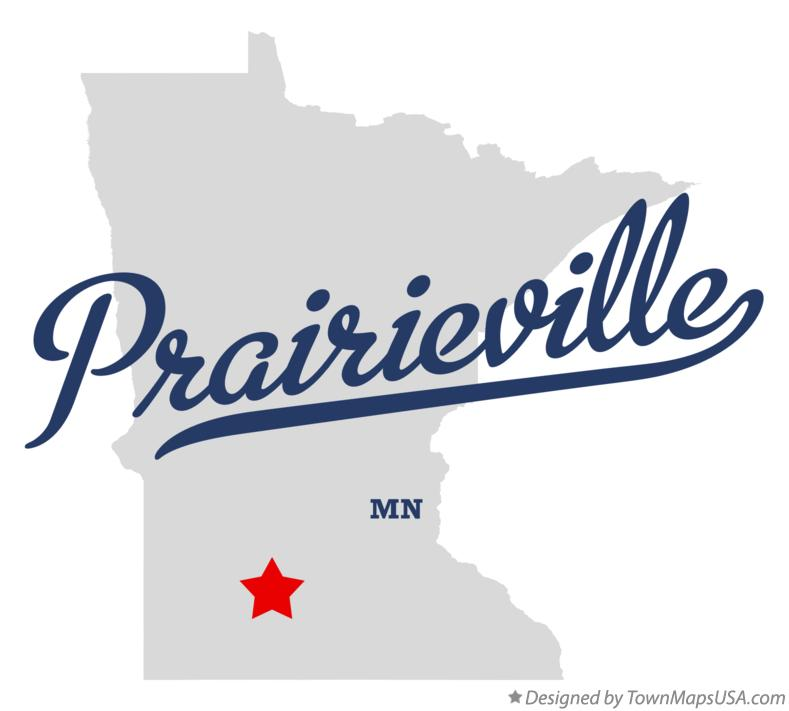 Map of Prairieville Minnesota MN